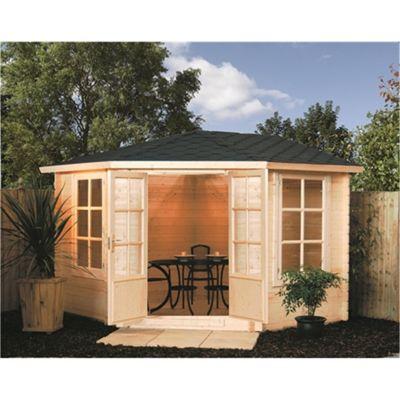 3m x 3m (11ft x 11ft) Corner Kestrel Chalet Garden Cabin