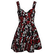 Rockabella Storm Skull Women's Black Dress - Black