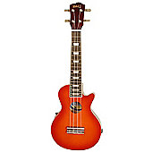 Mahalo Les Paul Acoustic Ukulele - Cherry Sunburst