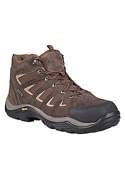 Mountain Warehouse Field Mens Waterproof Vibram Boot - Brown