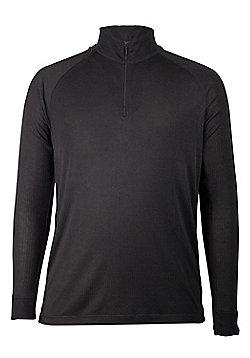 Talus Mens Long Sleeved Zip Neck Ski Walking Hiking Skiing Base Layer Top - Grey