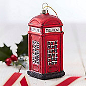 British Range Red Telephone Box Christmas Decoration