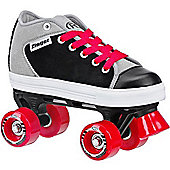Roller Derby Zinger Black/Grey Boys Quad Roller Skates - Black