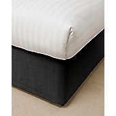 "Belledorm Divan Bed Base Valance Sheet Wrap 15"" Luxury Faux Suede - Black"