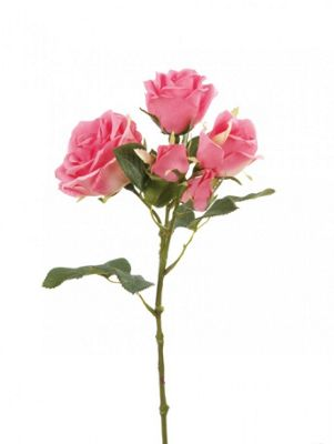 Artificial - Old English Rose Spray - Hot Pink