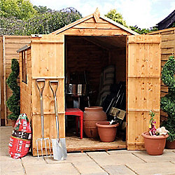 8 x 8 Sutton Overlap Value Apex Wooden Garden Shed (10mm Solid OSB Floor) -  8ft x 8ft (2 44m x 2 44m) - Fast Delivery - Pick A Day