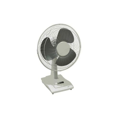 Q-Connect KF00403 16 inch Desktop Fan, 3 Speed - White