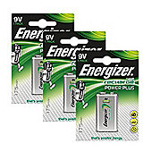 3 x Energizer 9V PP3 Block Rechargeable Battery 175 mAh