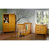 Obaby Stamford Mini Cot Bed 3 Piece Nursery Room Set - Country Pine