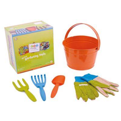 Twigz My First Gardening Tools (Orange Bucket)