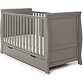 OBaby Stamford Cot Bed + Drawer (Taupe Grey)