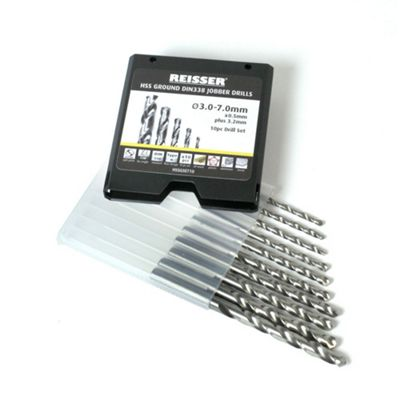 Reisser HSS Ground Drill Set (10Pc) 3.0-7.0mm