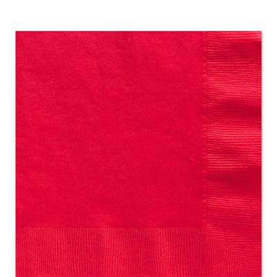 Red Luncheon Napkins - 2ply Paper - 50 Pack