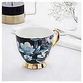 Fox & Ivy Teal Large Floral Footed Mug