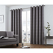 Curtina Camberwell Graphite Eyelet Curtains - 66x90 Inches (168x229cm)