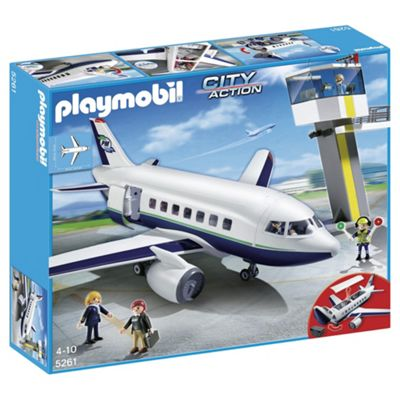 Playmobil 5261 City Action Cargo & Passenger Jet