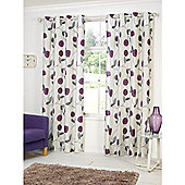 Hamilton McBride Dandelion Lined Eyelet Curtains - Purple