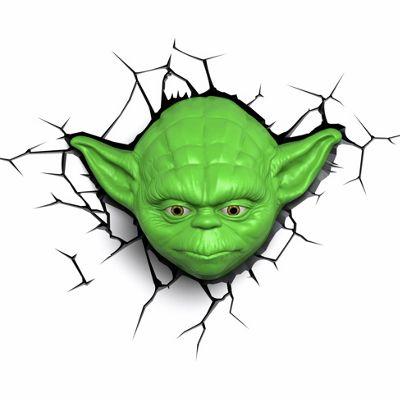Star Wars Yoda Head 3D Wall Light