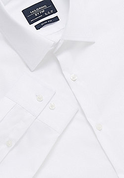 F&F Easy Iron Slim Fit Shirt - White