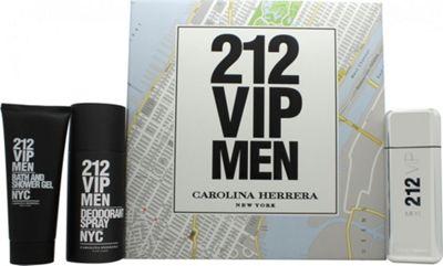 Carolina Herrera 212 VIP Men Gift Set 100ml EDT + 100ml Bath & Shower Gel + 150ml Deodorant Spray