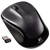 Logitech M325 Mouse - Optical - Wireless - Dark Silver
