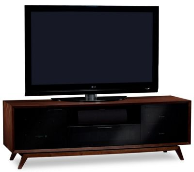 BDI Chocolate Stained Walnut TV Cabinet