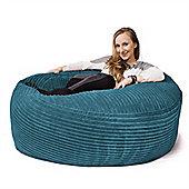 Lounge Pug® Mammoth Bean Bag Sofa - Cord Aegean Blue