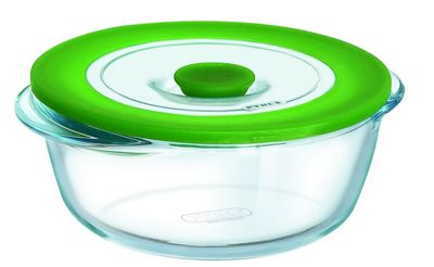 Pyrex Cook and Store Plus 0.35L Round Dish with Airtight Lid