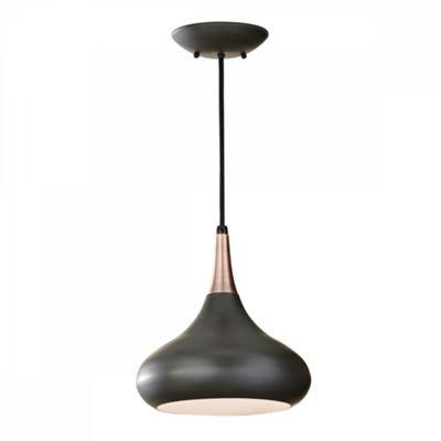 Dark Bronze 1lt Pendant - 1 x 60W E27