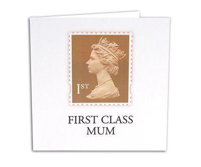 STAMP COLLECTION - Greetings Card - First Class Mum