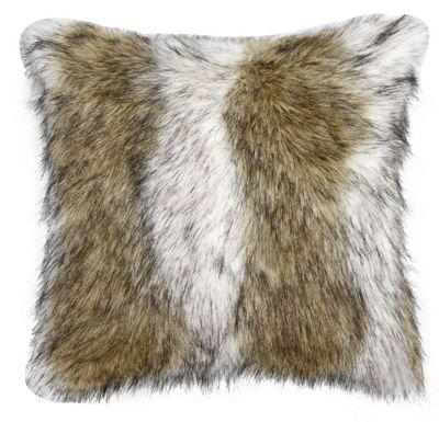 Brown Sable Faux Fur Cushion Sofa Living Area Decor