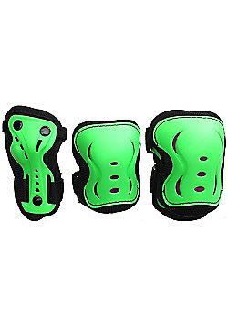 SFR Essentials Triple Pad Set - Green / Black / Red - Medium (age 7-9)