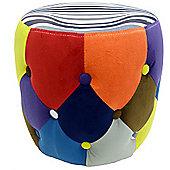 Soleil - Circular Drum Stool / Pouffe Seat - Multi-coloured