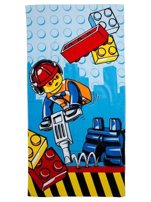 Lego City Construction Beach Towel