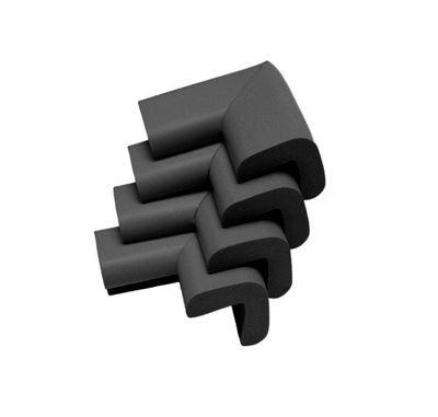 Safetots Premium Furniture Corner Cushions Black