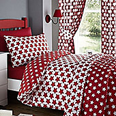 Etoile, Red Star Curtains 54s
