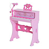 Homcom 37 Keys Mini Electronic Keyboard Kids Musical Instrument Grand Piano w/ Stool & Microphone (Pink)
