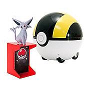 Pokemon XY Catch N Return Pokeball Espeon and Ultra Ball