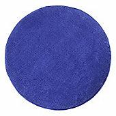 Homescapes Hand Tufted Plain Cotton Blue Large Round Rug, 70 cm Diametre