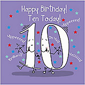Happy Birthday, Ten Today Boys Greetings Card