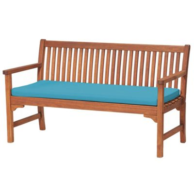 Turquoise 3 Seater Garden Bench / Swing Seat Cushion Pad Outdoor