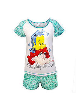 Disney Minnie Mouse Eeyore Ladies Short Pyjamas - Green