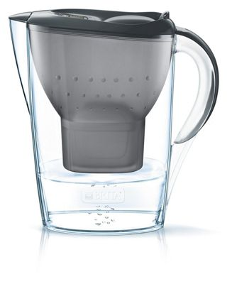 BRITA Marella Cool Water Filter Jug and Cartridges Starter Pack, Graphite