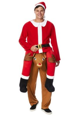 Fu0026F Ride On Reindeer Santa Claus Fancy Dress Costume Catalogue Number 799-4884  sc 1 st  Tesco & Buy Fu0026F Ride On Reindeer Santa Claus Fancy Dress Costume from our ...