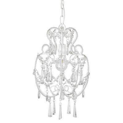 Beaded Ceiling Light Chandelier, White