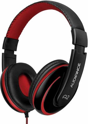 Audiance A2 Black and Red Over Ear Headphones