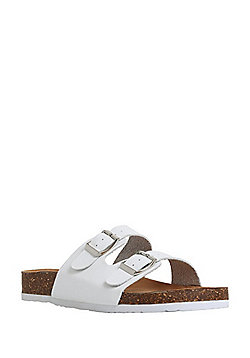 F&F Buckle Strap Sandals - White