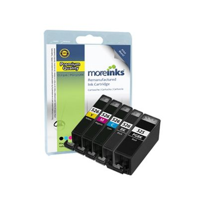 5 Compatible Ink Cartridges for Canon Pixma MG5350 - Cyan / Magenta / Yellow / Black (Capacity: 55.4 ml)