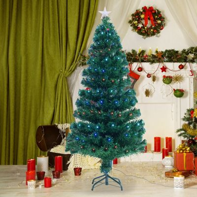 Buy Homcom 4ft Green Fibre Optic Artificial Christmas Tree Indoor