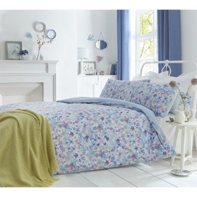 Dreams N Drapes Sunny Blue Duvet Cover Set - King
